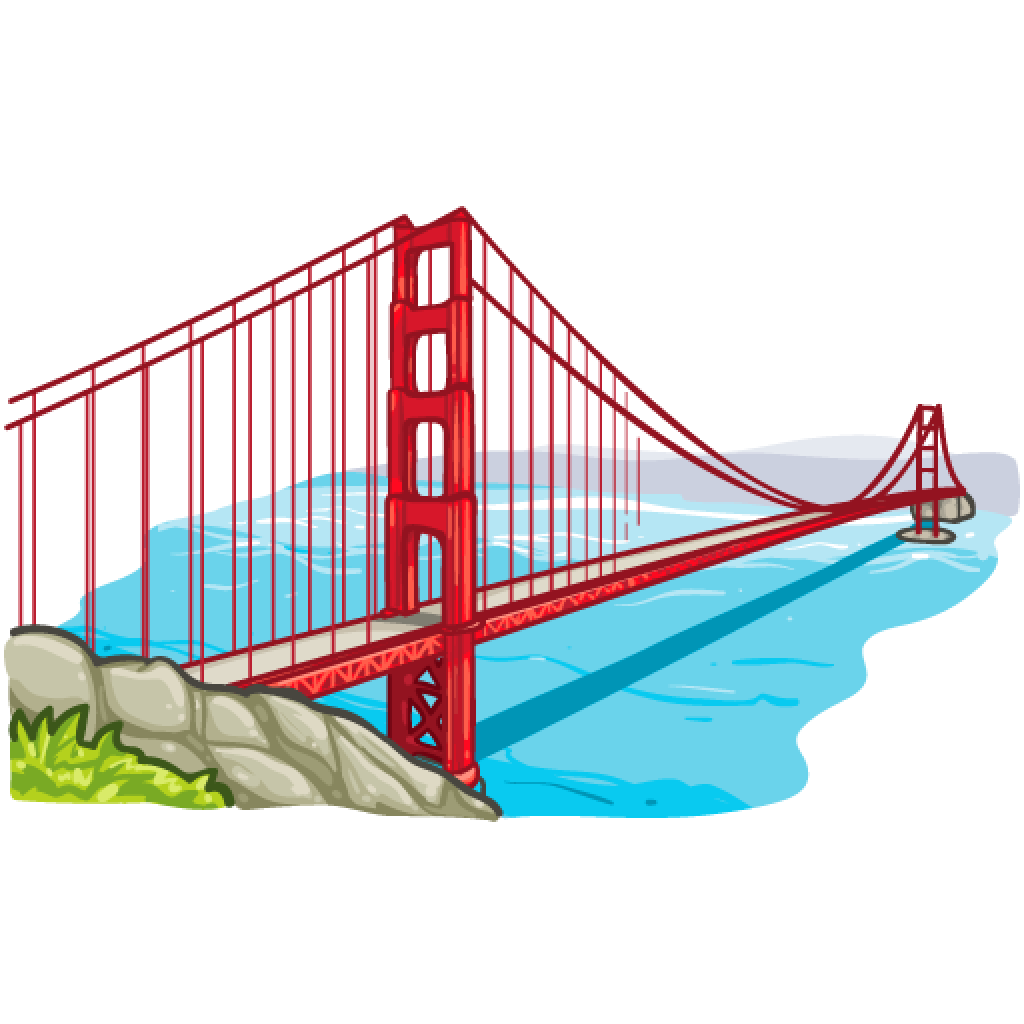 Golden Gate Bridge Drawing Clip Art Clipart Golden Gate Br...