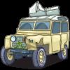 Smashed Land Rover