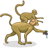 Thieving Monkeys