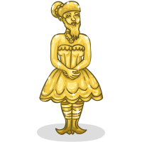 Golden Bearded Lady
