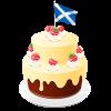 Scottish Birthday Cake