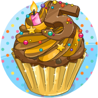 Super Birthday Cupcake