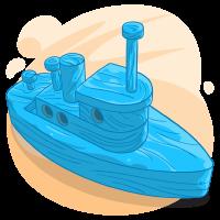Light Blue Boat