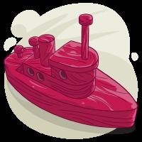 Maroon Boat