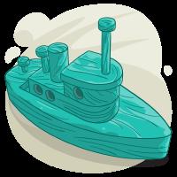 Aquamarine Boat