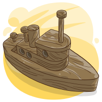 Brown Boat