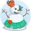 Aloha Snowman