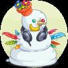 Silly snowman!