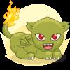 Drew's Green Disturbed Akimbo