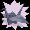 purplecourgette's Paper Crane