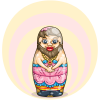 Bearded Lady Nesting Doll