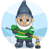 Ice Hockey Garden Gnome