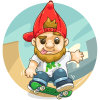 Skateboarding Garden Gnome